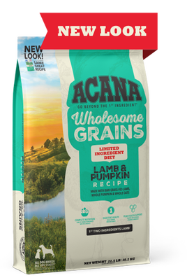 Wholesome Grains, Lamb & Pumpkin Recipe, Limited Ingredient Diet