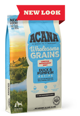 Wholesome Grains, Duck & Pumpkin Recipe, Limited Ingredient Diet